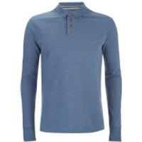 Brave Soul Mens Lincoln Long Sleeve Polo Shirt - Light Vintage Blue Marl - S
