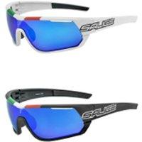 Salice 016 Italian Edition RW Mirror Sunglasses - White/Blue