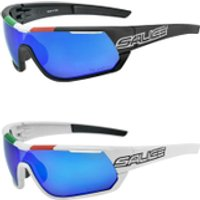 Salice 016 Italian Edition RWP Polarised Sunglasses - White/Blue