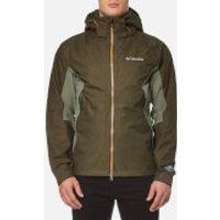 Columbia Mens On The Mount Waterproof Jacket - Peatmoss/Cypress/Valencia - L