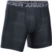 Under Armour Mens Original 6 Print Boxerjock - Black/Steel - XXL
