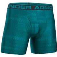 Under Armour Mens Original 6 Print Boxerjock - Turquoise Sky - L