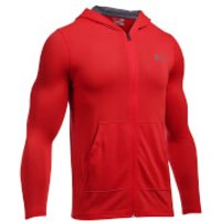 Under Armour Mens Threadborne Fitted Full Zip Hoody - Red - L