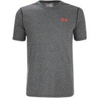 Under Armour Mens Threadborne Fitted T-Shirt - Black/Phoenix Fire - L