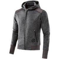 Skins Plus Mens Signal Tech Fleece Hoody - Black/Marle - XL