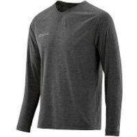Skins Plus Mens Micron Long Sleeve Top - Black/Marle - L