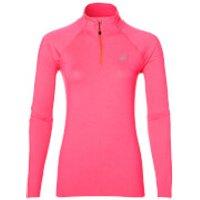Asics Womens 1/4 Zip Long Sleeve Run Top - Diva Pink Heather - XS