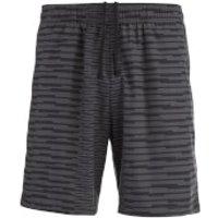 Asics Mens FuzeX Print 2-in-1 7 Inch Run Shorts - Dark Grey - M