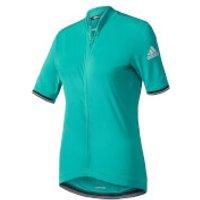 adidas Mens Climachill Short Sleeve Jersey - Green - XL