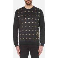 Versace Jeans Mens Small Logo Crew Sweater - Nero - S