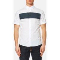 Michael Kors Mens Short Sleeve Colour Block Shirt - White - L