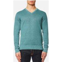 Michael Kors Mens Melange Wash V Neck Sweater - Lagoon - S