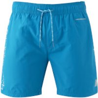 Crosshatch Mens Jennis Logo Swim Shorts - Blue Jewel - XL - Blue
