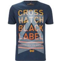 Crosshatch Mens Penn Black Label Print T-Shirt - Midnight - M