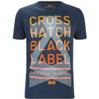 Crosshatch Mens Penn Black Label Print T-Shirt - Midnight - S
