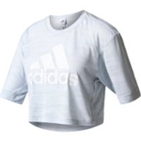 adidas Womens Aeroknit Boxy Crop Top - White - M