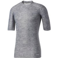 adidas Mens TechFit Climachill T-Shirt - Core Heather - L