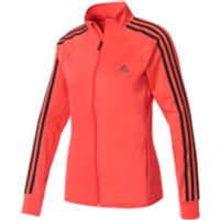 adidas Womens D2M 3 Stripe Track Top - Core Pink - S