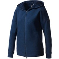 adidas Womens ZNE Travel Hoody - Storm Heather/Navy - S