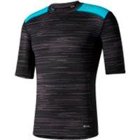adidas Mens TechFit Base GFX Compression T-Shirt - Black - S