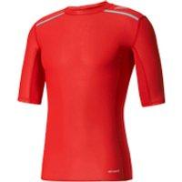 adidas Mens TechFit Climachill T-Shirt - Scarlet - M