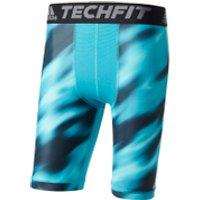 adidas Mens TechFit Climachill 9 Compression Shorts - Energy Blue - S