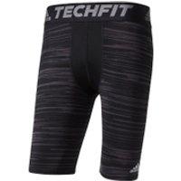 adidas Mens TechFit Base GFX Compression Shorts - Black - L
