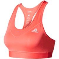 adidas Womens TechFit Medium Support Sports Bra - Core Pink - S