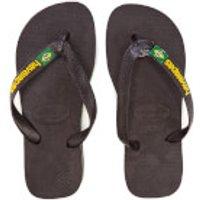 Havaianas Brasil Logo Flip Flops - Black - EU 27-28/UK 10-11