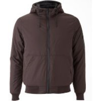 Brave Soul Mens Plutonium Hooded Jacket - Burgundy - M - Burgundy