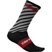 Castelli Free Kit 13 Socks - Black/Red - S-M