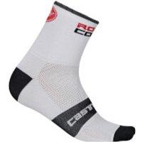 Castelli Rosso Corsa 9 Socks - White - L-XL