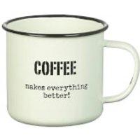 Parlane Coffee Better Enamel Mug - White (8 x 9cm)
