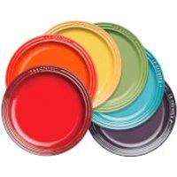 Le Creuset Stoneware Rainbow Plates (Set of 6)