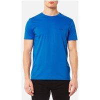 BOSS Green Mens Small Logo T-Shirt - Victoria Blue - L