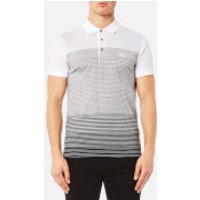 BOSS Green Mens Paddy 3 Stripe Polo Shirt - Grey Melange - XL