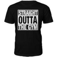 Mens Straight Outta The Gym Slogan T-Shirt - Black - M