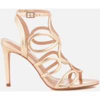 Carvela Womens Gabby Leather Strappy Heeled Sandals - Gold - UK 3