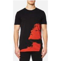 HUGO Mens Dariano Printed T-Shirt - Black - XXL
