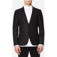HUGO Mens Awerd 2 Button Jacket - Black - EU 48 - Black