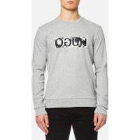 HUGO Mens Dicagos Reverse Logo Sweater - Grey - L