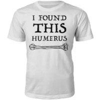 Mens Humerus Slogan T-Shirt - White - XL