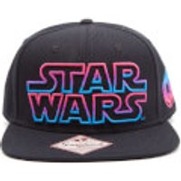 Star Wars Snapback Cap with Coloured Star Wars Logo - Black