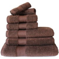 Restmor 100% Egyptian Cotton 7 Piece Supreme Towel Bale Set (500gsm) - Chocolate