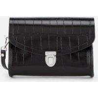 The Cambridge Satchel Company Womens Push Lock Bag - Black Patent Croc