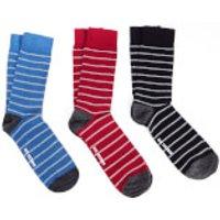 Ben Sherman Mens Avon 3 Pack Socks - Blue/Navy/Red - UK 7 - 11