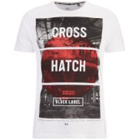 Crosshatch Mens Hotspot Graphic T-Shirt - White - XL