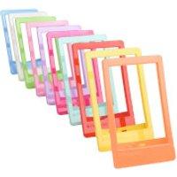 Polaroid 10 Pack Colourful Mini Frames (For 2x3 Inch Film/Paper) - Multicoloured
