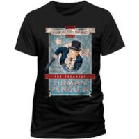 DC Comics Mens Batman The Penguin Carnival of Criminals T-Shirt - Black - L