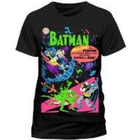 DC Comics Mens Batman Neon The Penguin Comic T-Shirt - Black - S